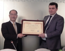 Tajikistan's state holding company for public utilities receives JICA President Award