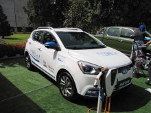 Kazakhstan-assembled electric crossover presented at Kazakh exhibition in Dushanbe