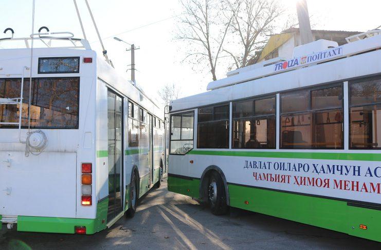 Равуои троллейбуси №12 дар Душанбе пурра барқарор шуд