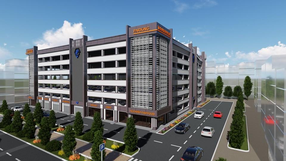 Около рынка «Корвон» в Душанбе начали строить многоэтажную парковку