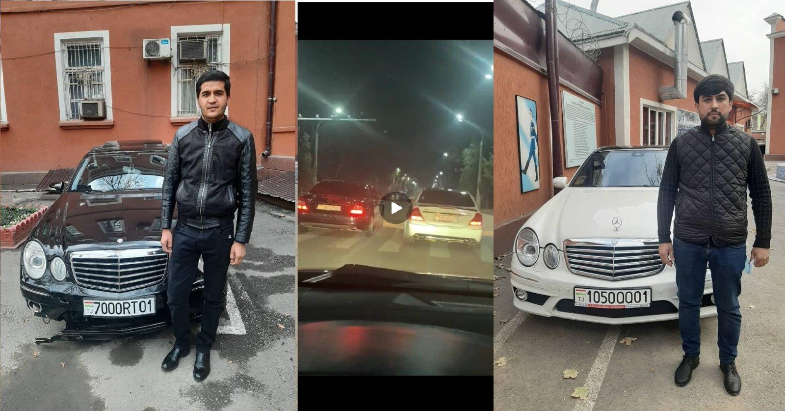 Столичные предприниматели устроили гонки в Душанбе. Они задержаны
