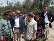 Американские дипломаты на таджикско-афганской границе (видео)