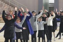 Репетиция театрализованного представления к празднованию Навруза