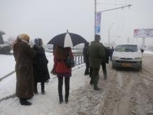 Снегопад в столице спровоцировал дефицит общественного транспорта