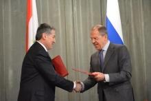Аслов и Лавров подписали межмидовскую программу сотрудничества на 2014 год