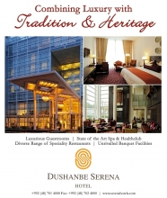 Dushanbe Serena Hotel awarded 2015 TripAdvisor Certificate of Excellence