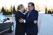 Как Эмомали Рахмон встретил Владимира Путина