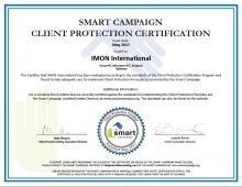«ИМОН ИНТЕРНЕШНЛ» снова получил сертификат «SMART Campaign»