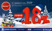 «Банк Эсхата» предлагает горячие скидки в холодную зиму!