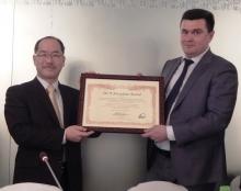 Tajikistan's state holding company for public utilities receives JICA President Award
