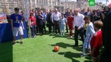 Путин и Инфантино сыграли в футбол со счетом 1:1