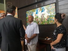«Я рисую Таджикистан изнутри»: в Душанбе прошла выставка художника Фарруха Негматзаде