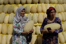 Желтые - хатлонские, согдийские - зеленые: в Душанбе проходит праздник дыни