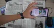 """Бори нахуст дар Тоҷикистон: дар газетаи """"Азия-Плюс"""" видео тамошо кун!"""