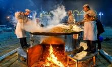 Таджикский рекорд: как в Душанбе приготовили 1 тонну плова