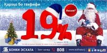 «Банк Эсхата» дарит новогодние скидки в 19%