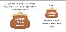 На что Таджикистан потратит бюджет 2019 года