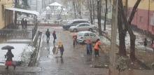 В Душанбе выпал первый снег. Но он не надолго