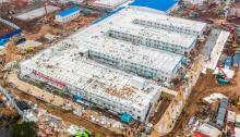 В Ухане за 10 дней построили больницу на тысячу мест для зараженных коронавирусом