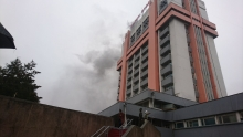 В Душанбе произошел пожар в газетно-журнальном комплексе