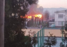 В Душанбе в Технологическом университете произошел пожар