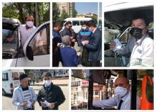 «Мы дорожим Вашим здоровьем!». Банк Эсхата раздал маски под этим девизом