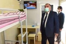 Президент и мэр открыли госпитали в Душанбе, возведенные для лечения больных коронавирусом