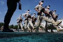 В 201-й РВБ в Таджикистане прошло торжественное шествие в честь 75-летия Победы в ВОВ