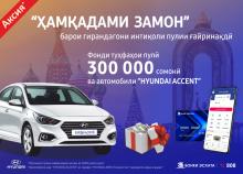 Банк Эсхата разыгрывает автомобиль Hyundai Accent и денежные призы