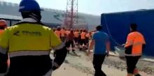 Рабочие из Узбекистана устроили погром на стройке газоперерабатывающего завода в России