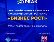 PEAK Tajikistan совместно с UCA SPCE открыл прием заявок на участие в бесплатной акселерационной программе «Бизнес Рост»