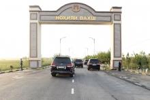 Вахш к визиту президента построил новые ворота