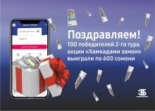 Еще 100 человек стали счастливыми обладателями денежного приза от Банка Эсхата