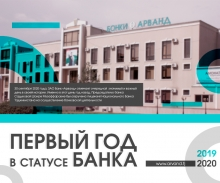 ЗАО Банк «Арванд» отмечает годовщину в статусе банка