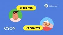В OSON появились переводы в Таджикистан по фамилии