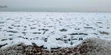 Как сибирские морозы сковали таджикское море