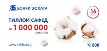 Банк Эсхата предлагает выгодный кредит в сезон посева хлопка