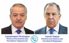 Сироджиддин Мухриддин и Сергей Лавров обсудили ситуацию на таджикско-кыргызской границе