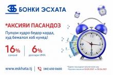 Банк Эсхата: Разбудите свои деньги, а сами спите спокойно!